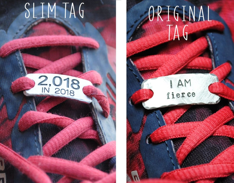 LEAVE nothing BUT footprints {lace tags} running shoe tags