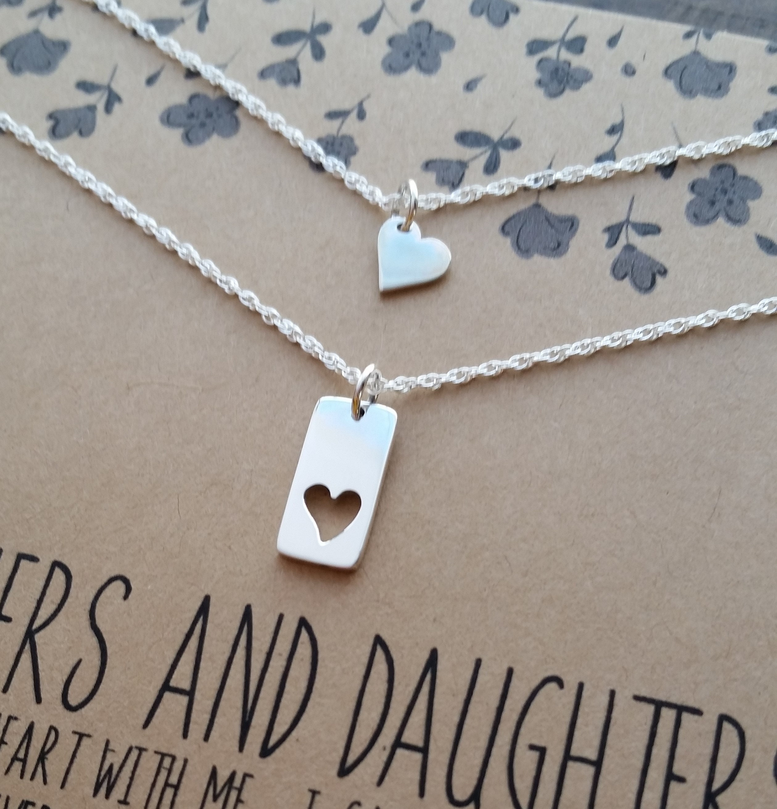 Ready2ship Mother Daughter Necklace Set I Carry Your Heart Gift