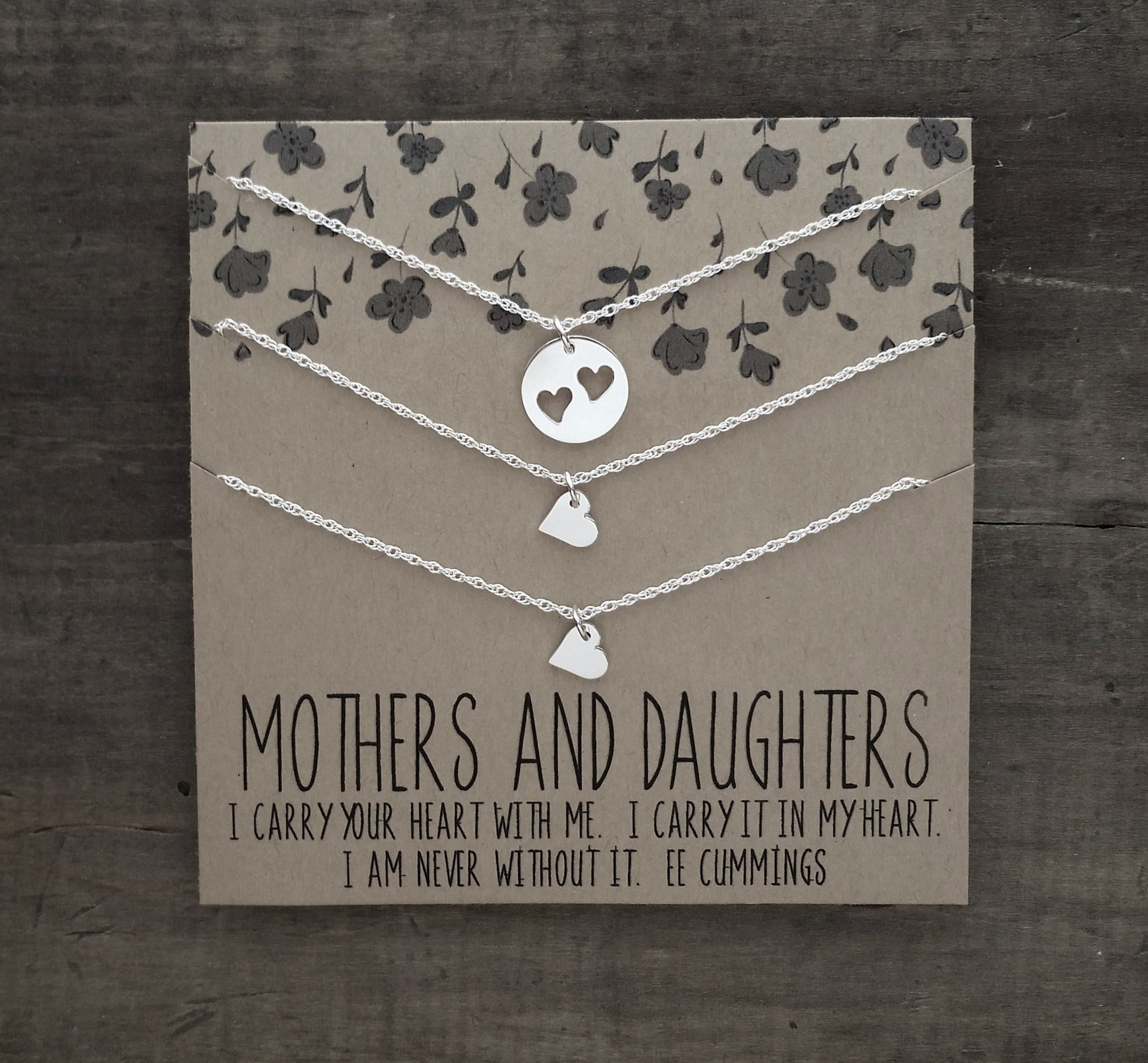 Ready2ship Mother Daughter Necklace I Carry Your Heart Set Of