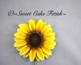 Gumpaste Sunflowers Fondant Flowers Cake Topper Sunflower Wedding Decorations Birthday