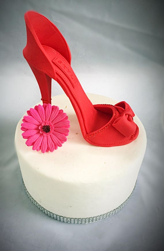 Cool Gumpaste High Heel Shoe Cake Topper Fondant High Heel Etsy Birthday Cards Printable Opercafe Filternl