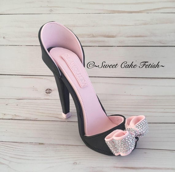 Heel Heels Shoe Shoes High Topper Fondant Gumpaste Fashion Cake Sugar lKFJT1c