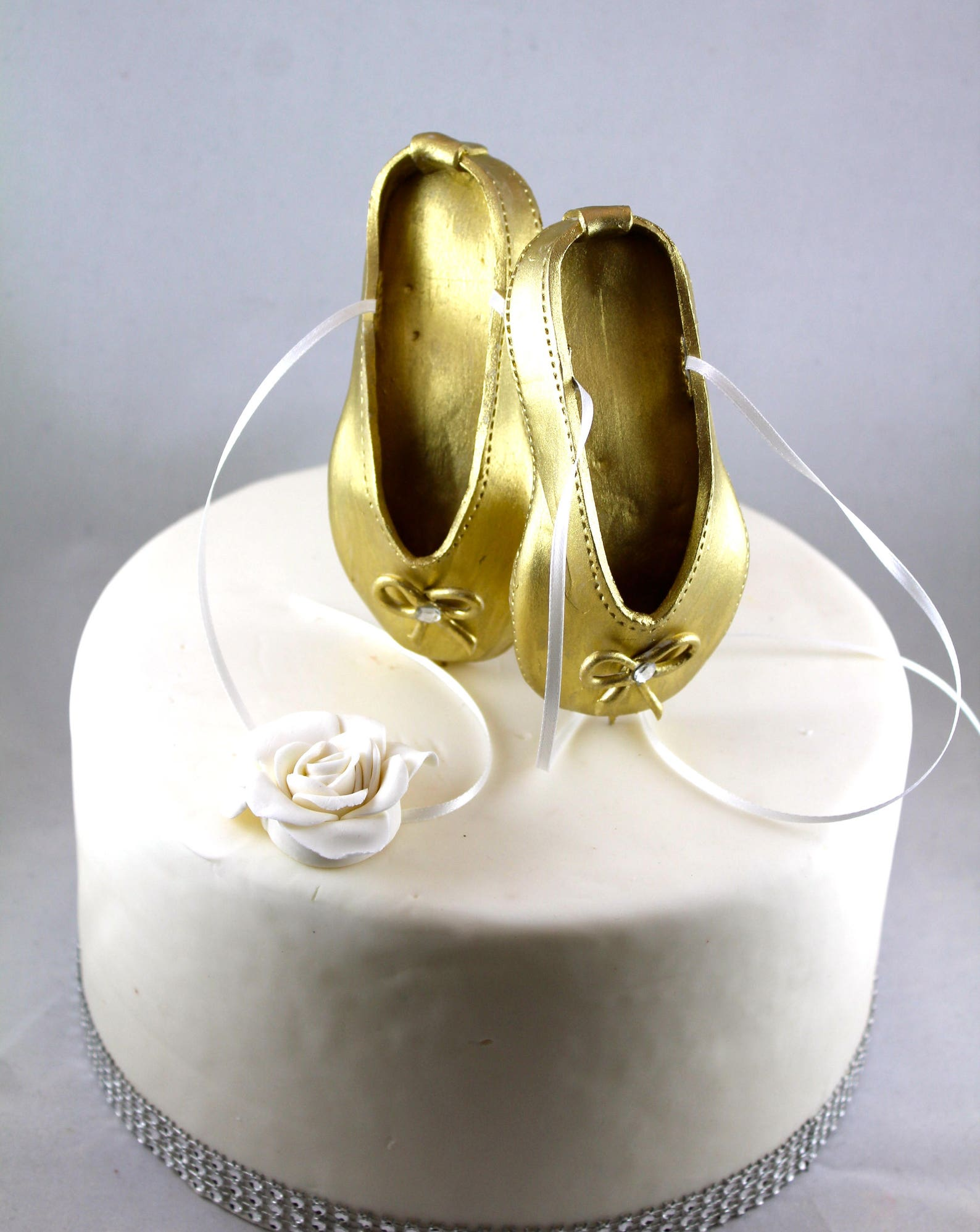 ballerina cake topper gold ballet shoes cake topper birthday cake topper ballerina cake decorations ballerina birthday decor bal