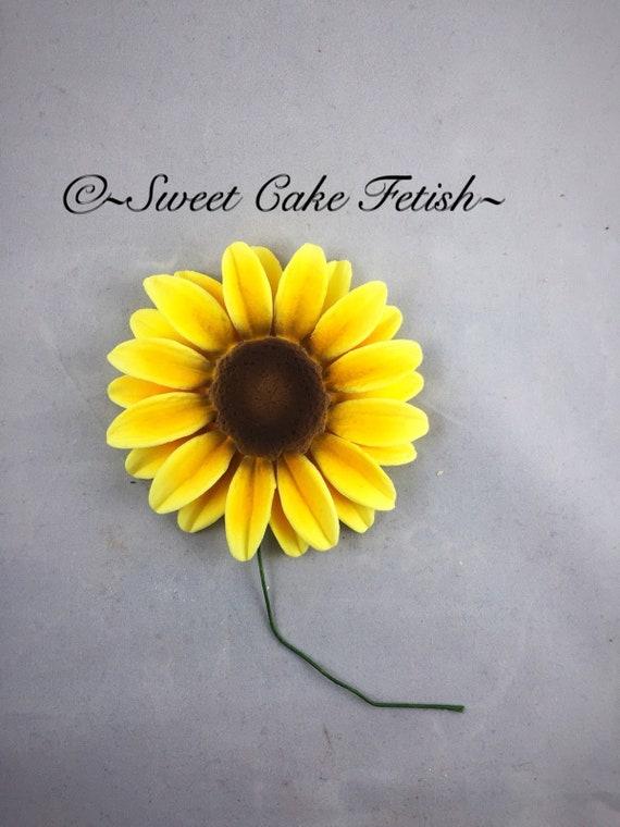 Gumpaste sunflowers Fondant Flowers Cake topper Sunflower   Etsy