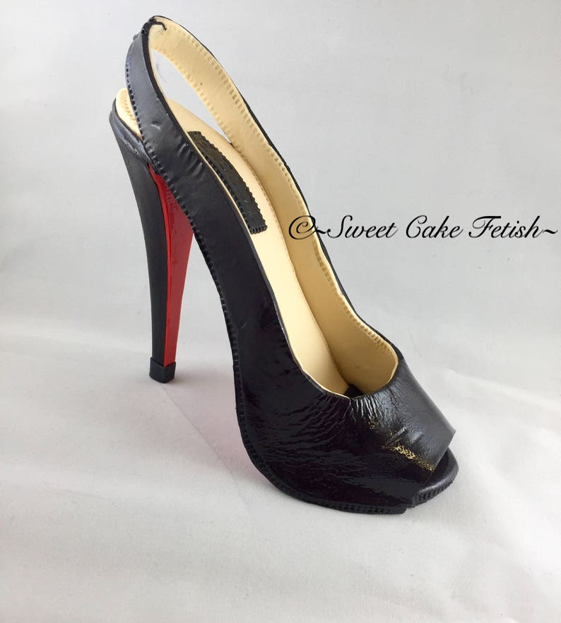 77240c38b2989 Gum paste High Heel Shoe Cake Topper Sugar shoes Fondant shoe Edible high  heel Fondant high heel Fashion cake topper