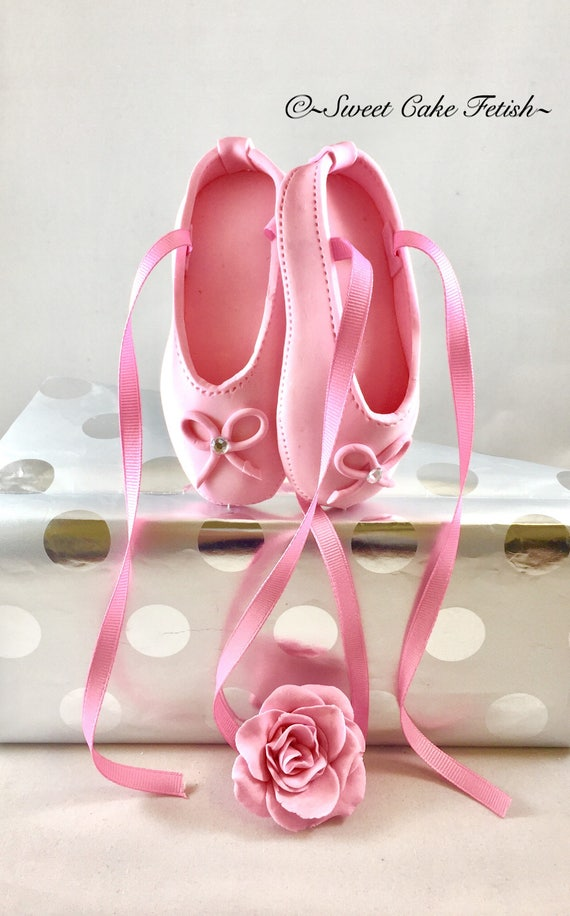 Ballerina Cake Topper Pink Ballet Shoes Cake Topper