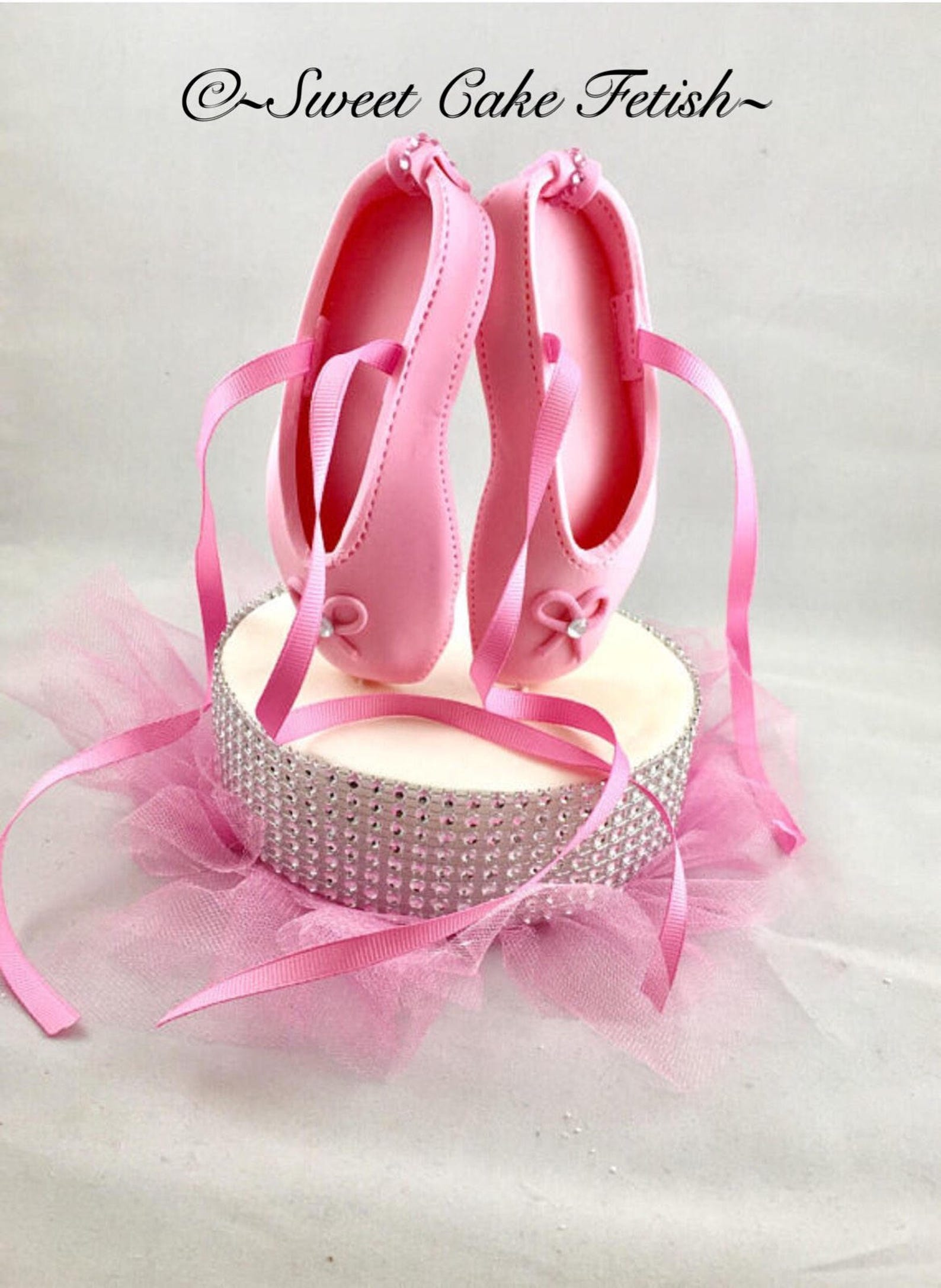 ballerina shoes and pedestal cake topper ballet shoes cake topper birthday cake topper ballerina cake decorations ballerina birt
