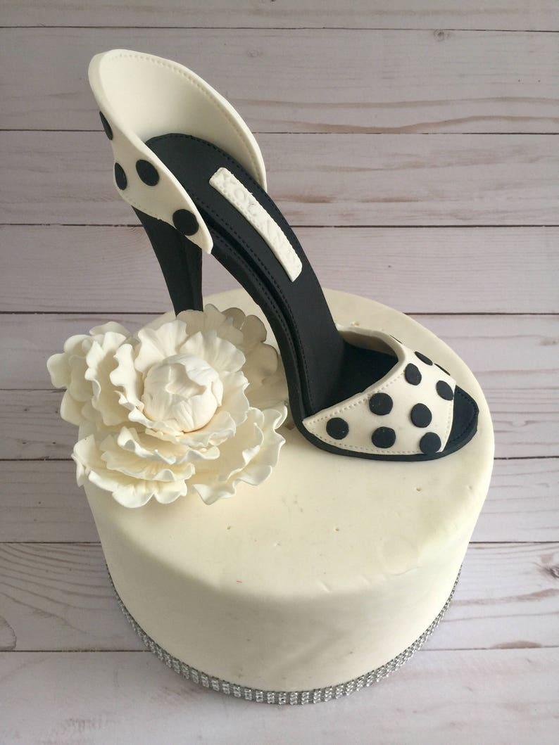Gumpaste High Heel Shoe Cake Topper Fondant