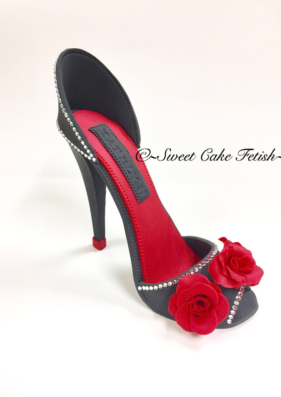 36e9a8a47fba5 Gumpaste high heel Fondant high heel Sugar Heel High heel topper Fashion  topper Fondant shoe Cake topper High heel Cake Gumpaste Shoe