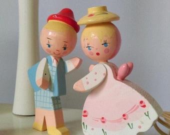Vintage Jack and Jill Nursery Lamp,  Night Light, Vintage Table Lamp, Vintage Lighting, Child's Lamp, Nursery Rhyme Decor, Vintage Lamp