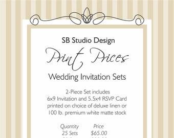 6x9 invitations etsy add on printing prices 6x9 wedding invitation sets stopboris Choice Image