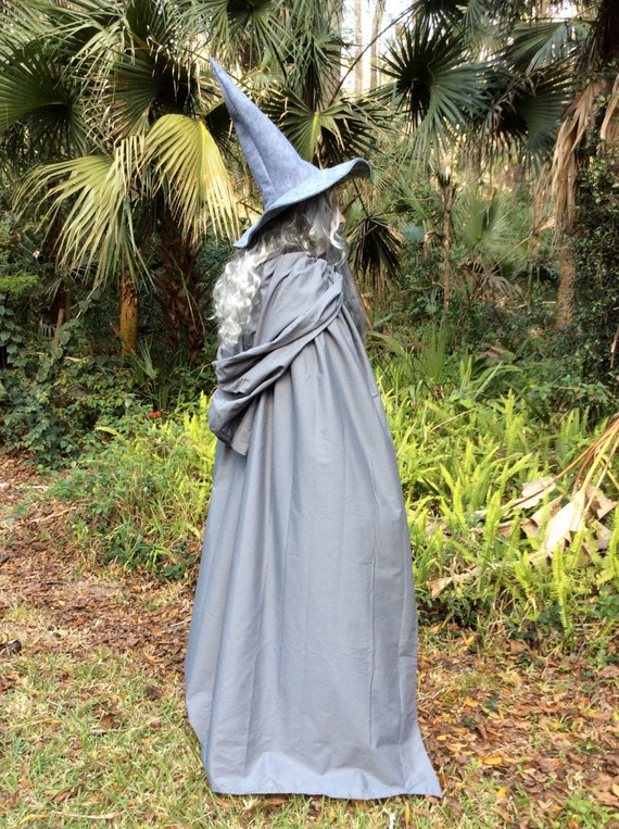 & Gandalf The Gray or White Costume Flowing Hooded Cape and
