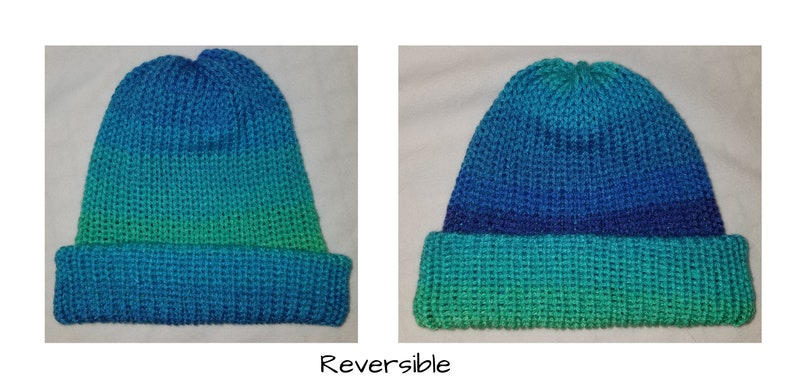 Knitted Reversible Beanie