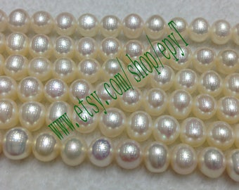 Top quality AAA+++,3pcs full strand, 6-6.5mm, natural white freshwater pearl necklace Strand,freshwater pearl Beads String,eTs54