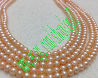 Top quality,1pcs full strand, 4.5-5mm, round shape,natural pink freshwater pearl necklace Strand,freshwater pearl Beads String,eTs5