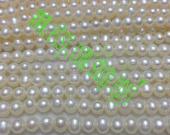 Top quality AAA+++,1pcs full strand,4.5-5mm, natural white freshwater pearl necklace Strand,freshwater pearl Beads String,eTfs12