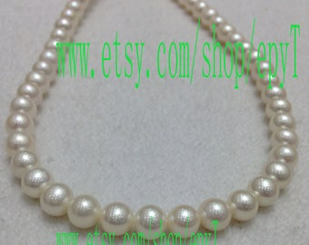 Top quality, 1pcs full strand, 8.5-9.5mm, round shape,natural white freshwater pearl necklace Strand,freshwater pearl String,eTFfs68