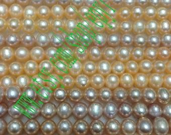 1piece  full strand, 5-5.5mm,natural white freshwater pearl necklace Strand,loose pearl,freshwater pearl Beads String