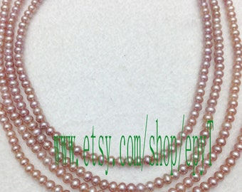 1piece full strand, 4-4.5mm,natural pink lavender freshwater pearl necklace Strand,loose pearl,freshwater pearl Beads String
