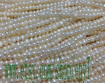 20pcs full strand, 2.5-3mm, natural white freshwater pearl necklace Strand,loose pearl,freshwater pearl beads String,eTs42