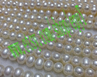 Top quality AAA+++,1pcs full strand, 6.5-7mm, natural white freshwater pearl necklace Strand,freshwater pearl Beads String,eTfs16