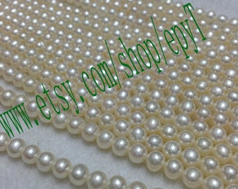 Top quality AAA+++,1pcs full strand, 6-6.5mm, natural white freshwater pearl necklace Strand,freshwater pearl Beads String,eTs49