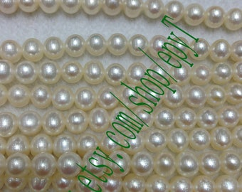 Top quality AAA+++,1pcs full strand,6.5-7mm, natural white freshwater pearl necklace Strand,freshwater pearl Beads String,eTs56