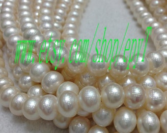 Top quality,1pcs full strand, 11-11.5mm,natural white freshwater pearl necklace Strand,large freshwater pearl Beads String,eTs9