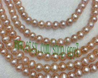 1piece full strand, 5-5.5mm,natural pink lavender freshwater pearl necklace Strand,loose pearl,freshwater pearl Beads String