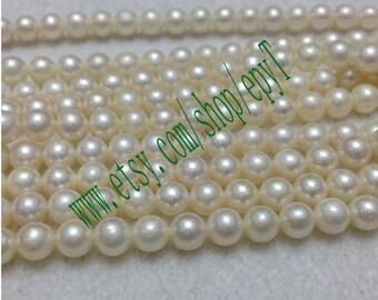 1pcs full strand,6.5-7mm,natural white freshwater pearl necklace Strand,natural freshwater pearl Beads String,large freshwater pearl,eTs48