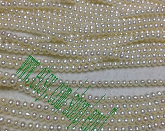 top quality 3pcs full strand,2.5-3mm,small natural white freshwater pearl necklace Strand,loose pearl,freshwater pearl Beads String,eTfss19