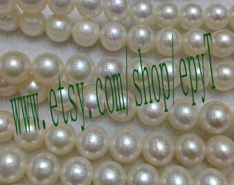 Top 1pcs full strand,8-8.5mm, natural white freshwater pearl necklace Strand,freshwater pearl Beads String,eTfs78