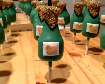 Champagne Bottle Cake Pops