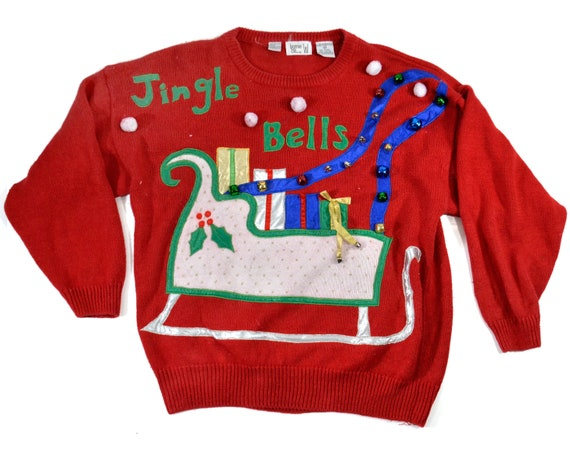 XL Ugly Christmas sweater Plus  tacky christmas sw