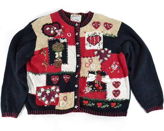 XL Valentines Day Sweater Ugly Sweater Top Shirt H