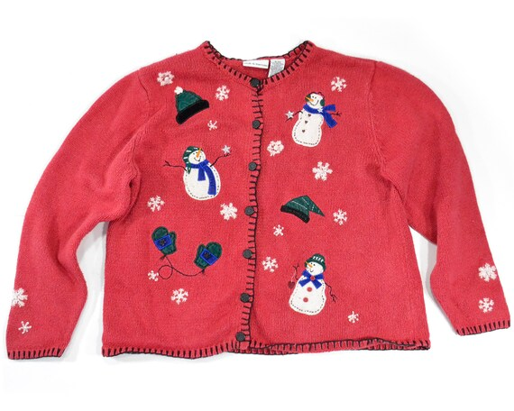 XL Ugly Christmas sweater, tacky Christmas sweater