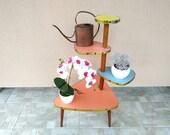 Plant Stand - Plant Stool - Mid Century Coffee Table - Tripod Planter