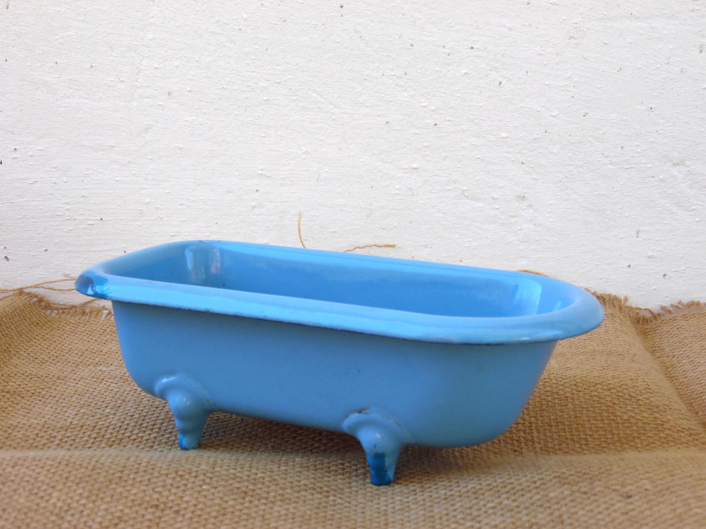 Antique Enamel Bathtub Enamel Soap Dish Shabby Chic Home