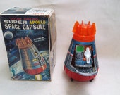 Near Mint Super Apollo Space Capsule Battery Operated S.H. Horikawa Japan Working