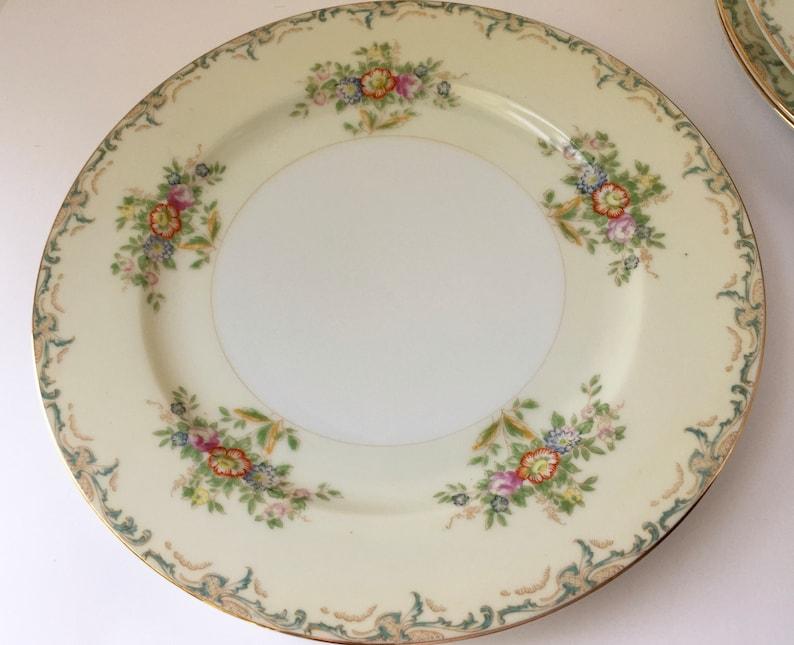 Made in Japan Vintage Grace China Set of 4 Dinner Plates