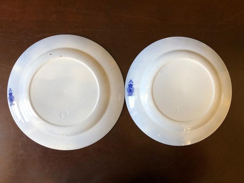 Royal Doulton Madras Antique Flow Blue Royal Dinner Plates Set of 2