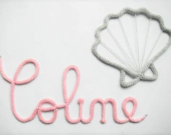 first name in knitting (with hooks)