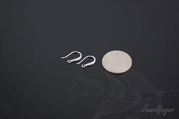 Paires en vrac-B443-100 crochet - Rhodium plaqué boucles d'oreilles crochet vrac-B443-100 df374c