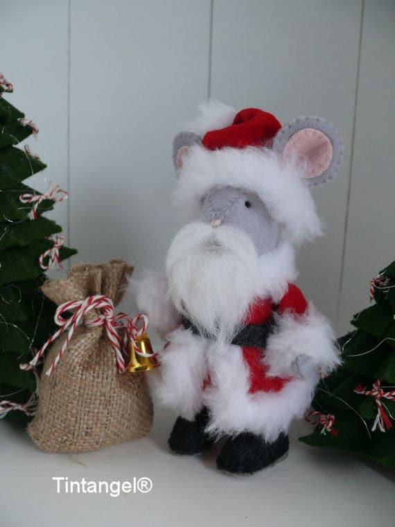 Kerstmanmuis Voor De Dickensmuizen Etsy