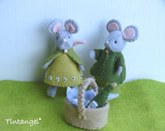 Mr. & Mrs. Mouse - DIY kit, specialy made to fly in the balloon.