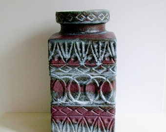XXL Bay keramik / ceramic Floor Vase, 92-45, by Bodo Mans, West German Pottery, WGP