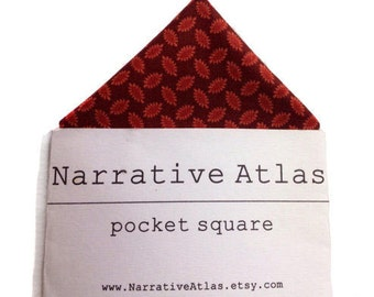 Pocket Square - Barn Red Seeds - Garden Collection