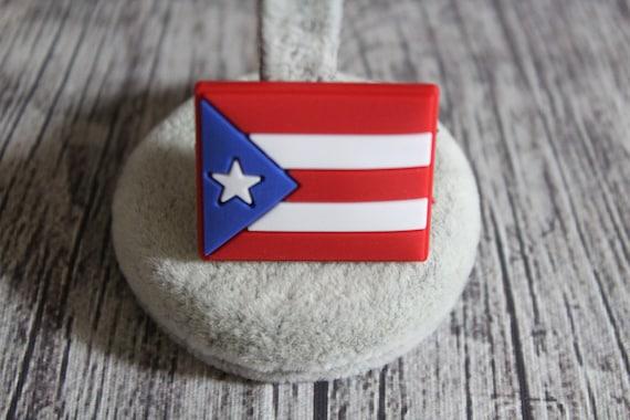 Original designs 2 pieces Coqui Puerto Rico flag and Puerto Rico flag  shoe charm set