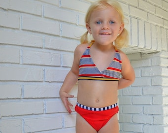 Cali Kids - vintage two piece swimsuit for toddler