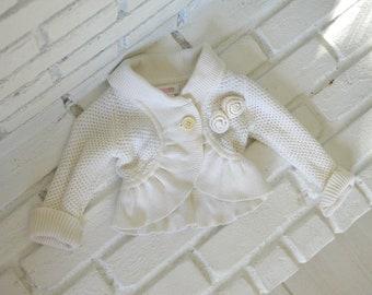 Cali Kids - vintage rose knit cardigan for toddler